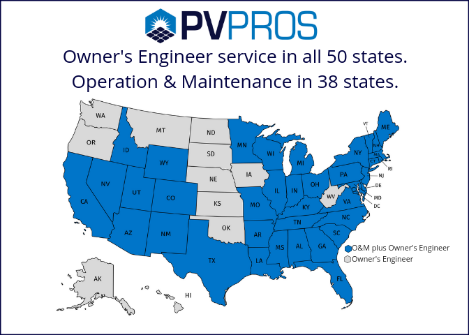 PV Pros Services Map